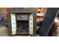 Cast Iron Fireplace & Hearth -excellent condition
