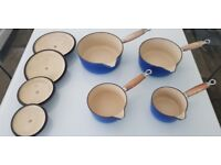 Set of four Cousances pans
