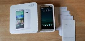 Fully unlocked HTC one M8 16GB Android phone in verygood condition