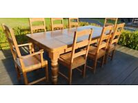 Oak Eight-seat Country Dining Suite