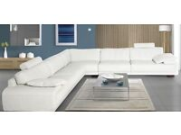Large pearl white sofa lovely condition 3.25mtrs x 3.25mtrs cost new £4800