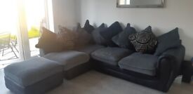 Corner sofa with Footstall