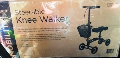 Equate Knee Walker Medical Scooter, Model EQKW100 - New / Se