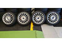 Ford Genuine 17 alloy wheels + 4 x tyres 215 45 17