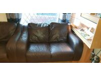 Two Italian hand made 2 seater sofas very comfortable very good condition £100 each