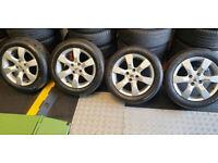 Peugeot Genuine 16 alloy wheels + 4 x tyres 205 55 16