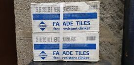 Fasade clinker tiles for 18m2.Wall tiles designed for placing inside and outside the buildings