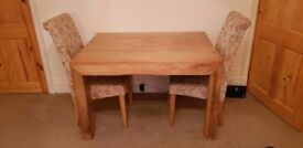 Beautiful chunky mango wood dining table and chairs