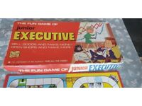Old vintage collectible board game juniors executive