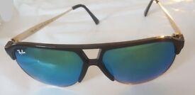 Ray-Ban Stylish Sunglasses Mirror Flash Lenses Blue/Green Unisex