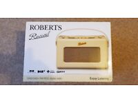 Brand New Roberts Revival DAB/FM Digital Radio (RD60 Pastel Cream)