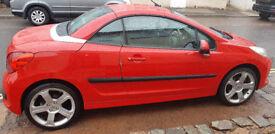 Peugeot 207 CC Convertible, 2008, Diesel, Upto 65Mpg, Excellent Condition, 12 Months Mot