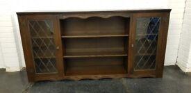 Jaycee Old Charm Style Large Oak Bookcase Cabinet