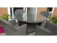 Akexander Rose Monte Carlo table and four chairs