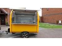 Mobile Catering Trailer Burger Van Hot Dog Coffee Trailer 2300x1650x2300 Ready To Collect
