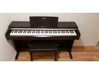 Yamaha Arius YDP-142 Rosewood Digital Piano with 88 weighted keys + stool. As new Condition.