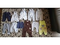 Boy toddler baby bundle clothes age 0-6 months