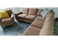 Marks and spencer large corner sofa and matching chair
