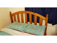 Lovely wooden double bed frame