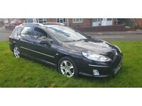 PEUGEOT 407SW ESTATE DIESEL ( ANY OLD CAR PX WELCOME ) ( MOTORWAY MILES )