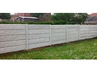 Concrete fencing package deal inc local delivery 6ft high