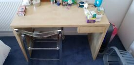 Ikea desk and bookcase set. Immaculate condition. Must go. (Contents not included) £45.
