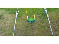 Child's swing complete with 3 in 1 options seat