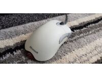 Optical wired Microsoft intellimouse 5 button, white, grey, red, great condition
