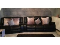 2+3 seater leather recliner