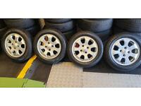 Mitsubishi Nissan Volvo Suzuki 15 alloy wheels + 4 x tyres 185 60 15