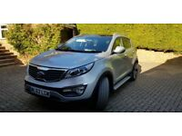 Kia Sportage 1.7 CRDi 3 5dr - Sat Nav, Silver Storm, Black Leather Trim, Integrated Side Steps
