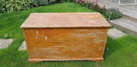 Original Victorian blanket box