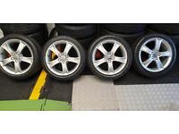 Seat Genuine 16 alloy wheels + 4 x tyres 205 45 16