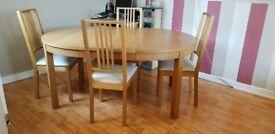 Ikea Bjursta Oak Veneer Table And Chairs