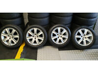 Peugeot Genuine 16 alloy wheels + 4 x tyres 195 55 16 M+S All Season