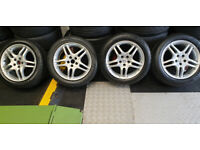 Momo alloy wheels 16 + 4 x tyres 205 50 16 Toyota,Audi,Seat,VW,Skoda,MG