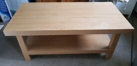 Coffee table/media unit - good condition 1 meter wide, 50cm deep