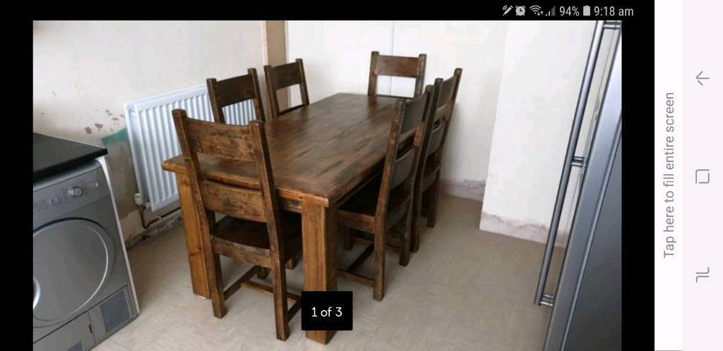 Fabulous Rustic Pine Dining Table In Ballymoney County Antrim Gumtree Download Free Architecture Designs Jebrpmadebymaigaardcom