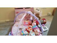 Bundle of baby girl items