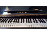 CARL HERTEL UPRIGHT PIANO FOR FREE COLLECTION !!! OR DELIVER FOR SMALL COST