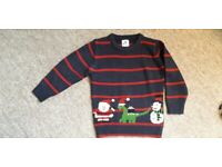 Boys Christmas Jumper age 4-5 excellent condition
