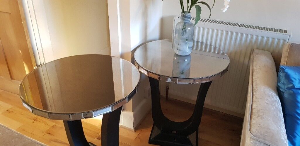 Rv Astley Art Deco Mirrored Side Tables In Southampton Hampshire
