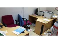 Office desk and chairs for sale