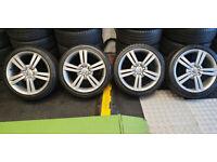 Seat Genuine 18 alloy wheels + 4 x tyres 225 40 18