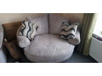 3 seater + swivel chair