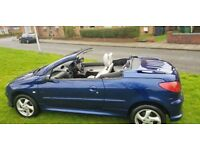 PEUGEOT 206 ALLURE CONVERTIBLE ( ANY OLD CAR PX WELCOME ) EXCELLENT DRIVE LOW MILES,