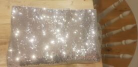 Large Silver Sequin Tablecloth **Perfect for weddings or parties**