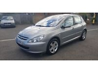 Peugeot 307 silver 1.5 very low mileage. £1200 call 07903496696