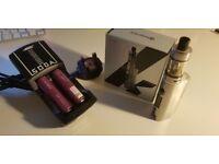 KangerTech TOPBOX Mini - vaping/e-cigarette - Platinum Edition, extras inc. EFEST rechargeable/batt