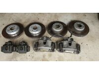 BMW 5 6 Series E60 E63 535d 550 BRAKE SET CALIPERS FRONT AND REAR